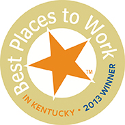 the logo for the best places to work in kentucky 2013 award