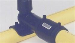 HDPE Electrofusion yellow gas pipe saddle fusion
