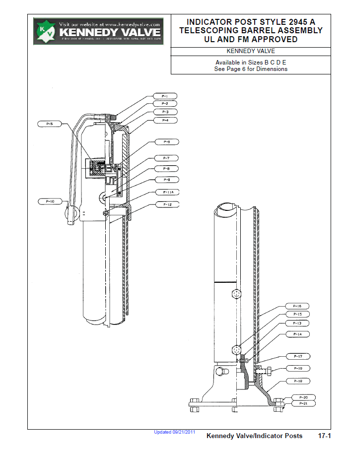 Telescoping Barrel Assembly Specification Sheet