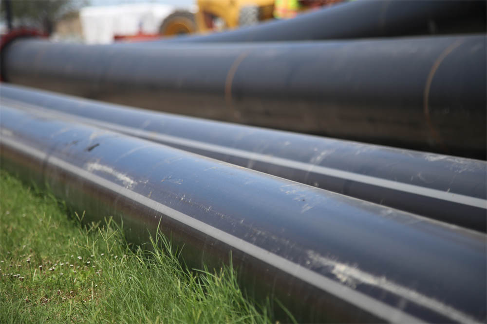 A close up of PE-RT pipe