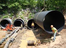 Large diameter HDPE culvert lining installed at Reed Creek Snap-Tite