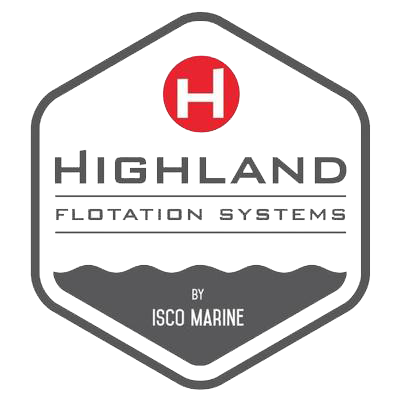 The logo for the Highland Flotation System without a background