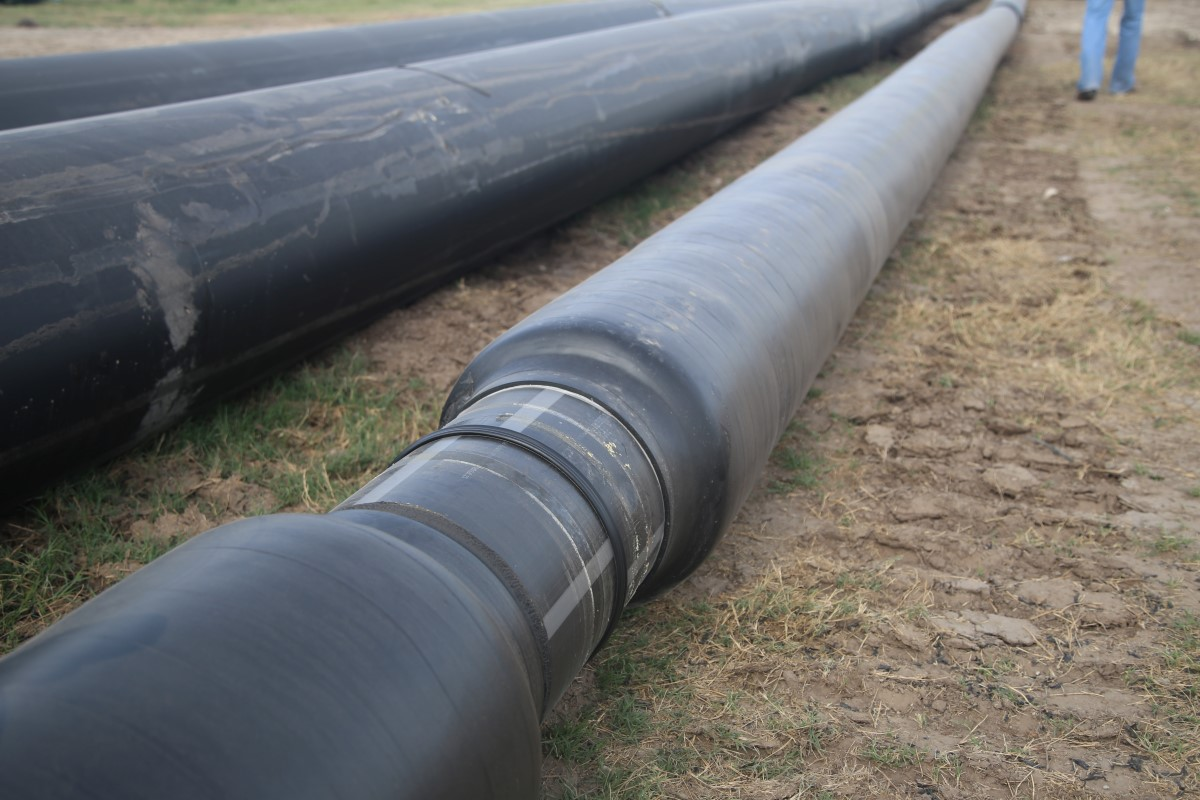 Insulated PE-RT pipe at Texas A & M