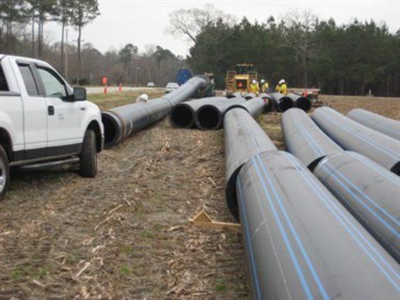 The Lake Marion regional water system in Santee, South Carolina
